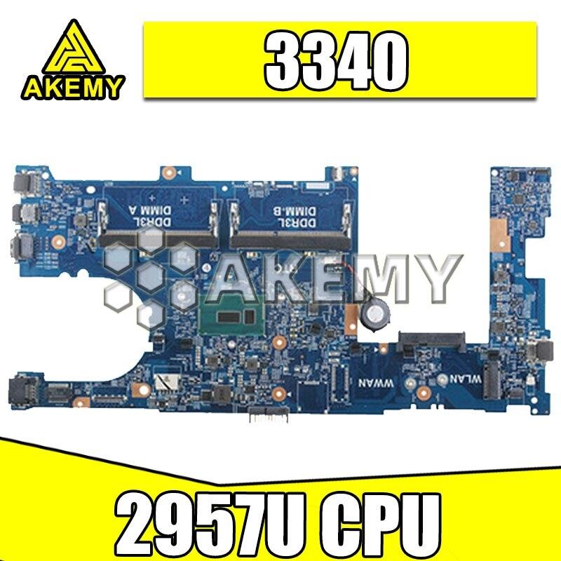 Ordenador portátil placa base para For DELL para la latitud 3340 placa base W/2957U CPU X13HJ 0X13HJ CN-0X13HJ 13229-1 DDR3L 100% prueba OK