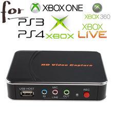 KuWFi HD jeu vidéo Capture 1080P HDMI YPBPR enregistreur pour XBOX One/360 PS3 /PS4 en un seul clic aucun PC demandé aucune configuration
