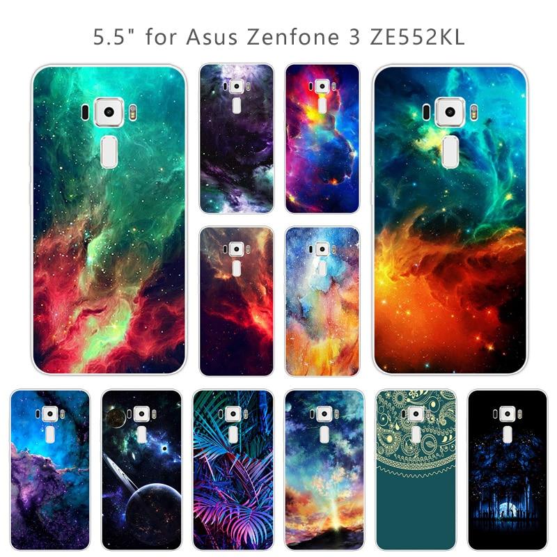 for Asus Zenfone 3 ZE552KL Nebula Phone Case Ultrathin Soft Silicone for Asus Zenfone 3 ZE552KL Back Cover for Asus ZE552
