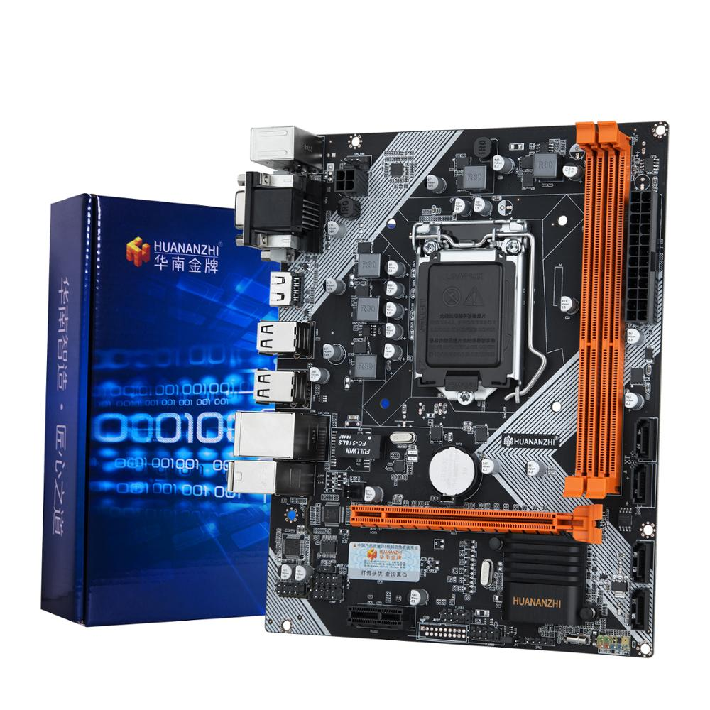 HUANANZHI H61 LGA1155 اللوحة مع VGA HDMI DVI الناتج RAM DDR3 2 قنوات الكمبيوتر DIY وقفة واحدة حل 2 سنوات الضمان