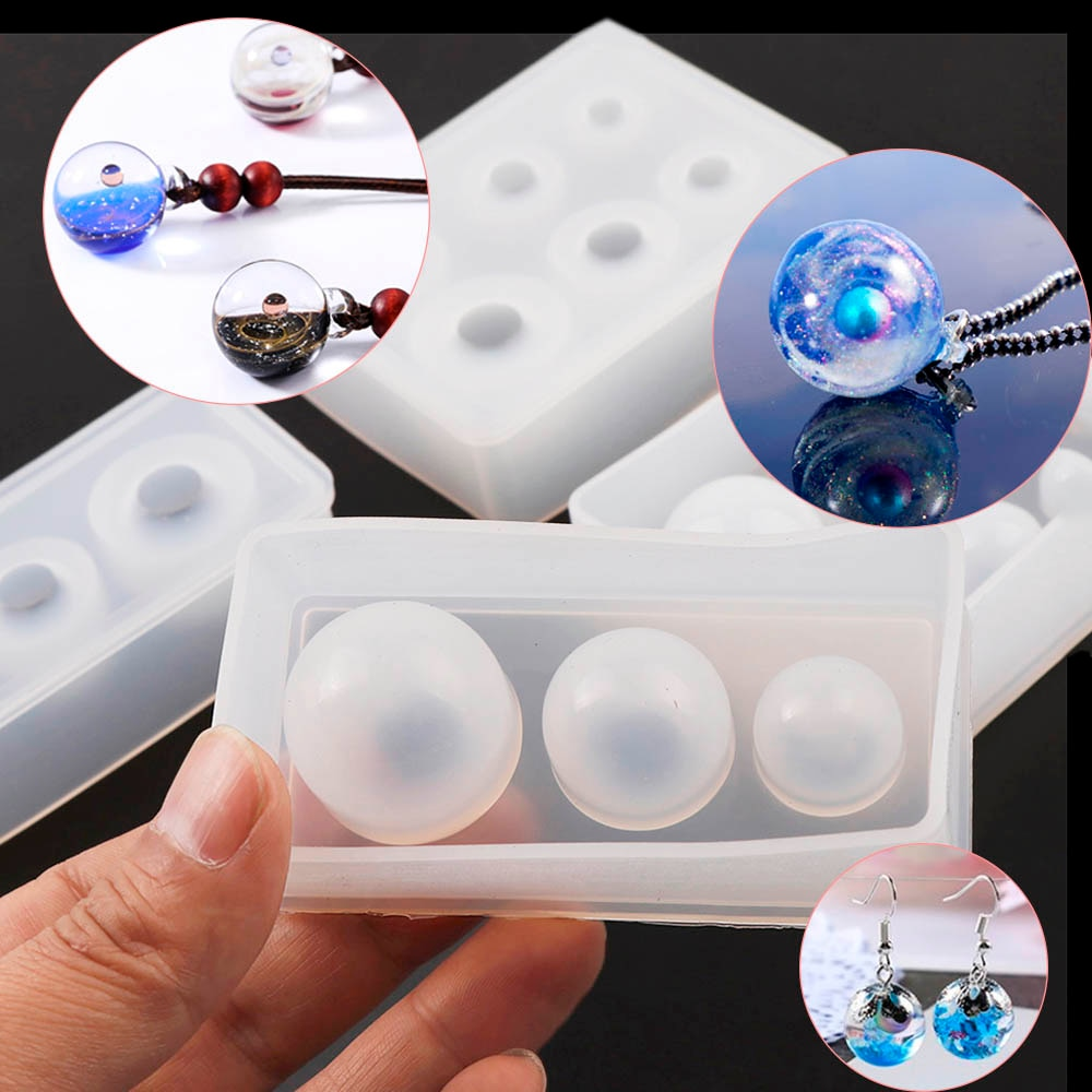New Crystal Drop Gel Sphere Silicone Mold Star Ball Mold 25 20 15mm multi-size Ball Mold