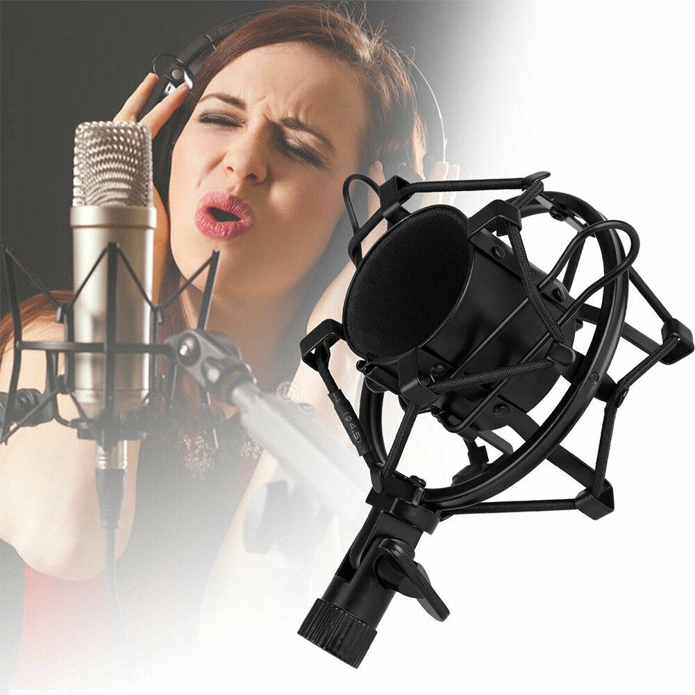 Clip de protección de condensador grabación de estudio soporte de micrófono ajustable montaje de choque Spider práctico ordenador profesional