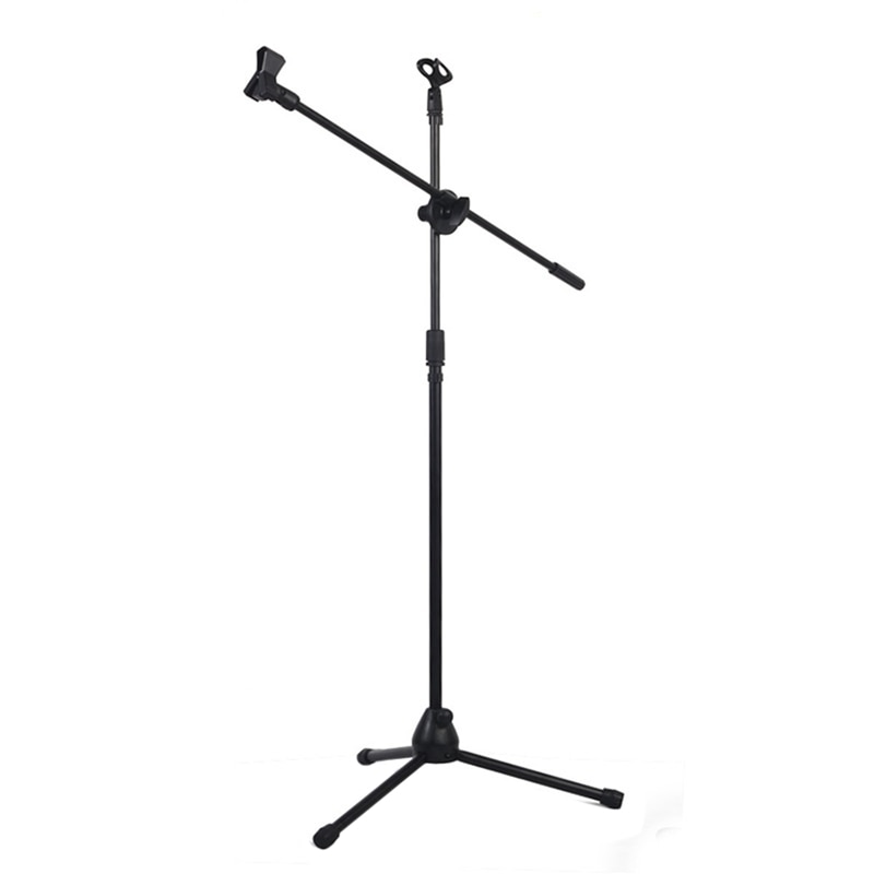 Soporte de micrófono de pie de suelo de pluma de oscilación profesional caliente
