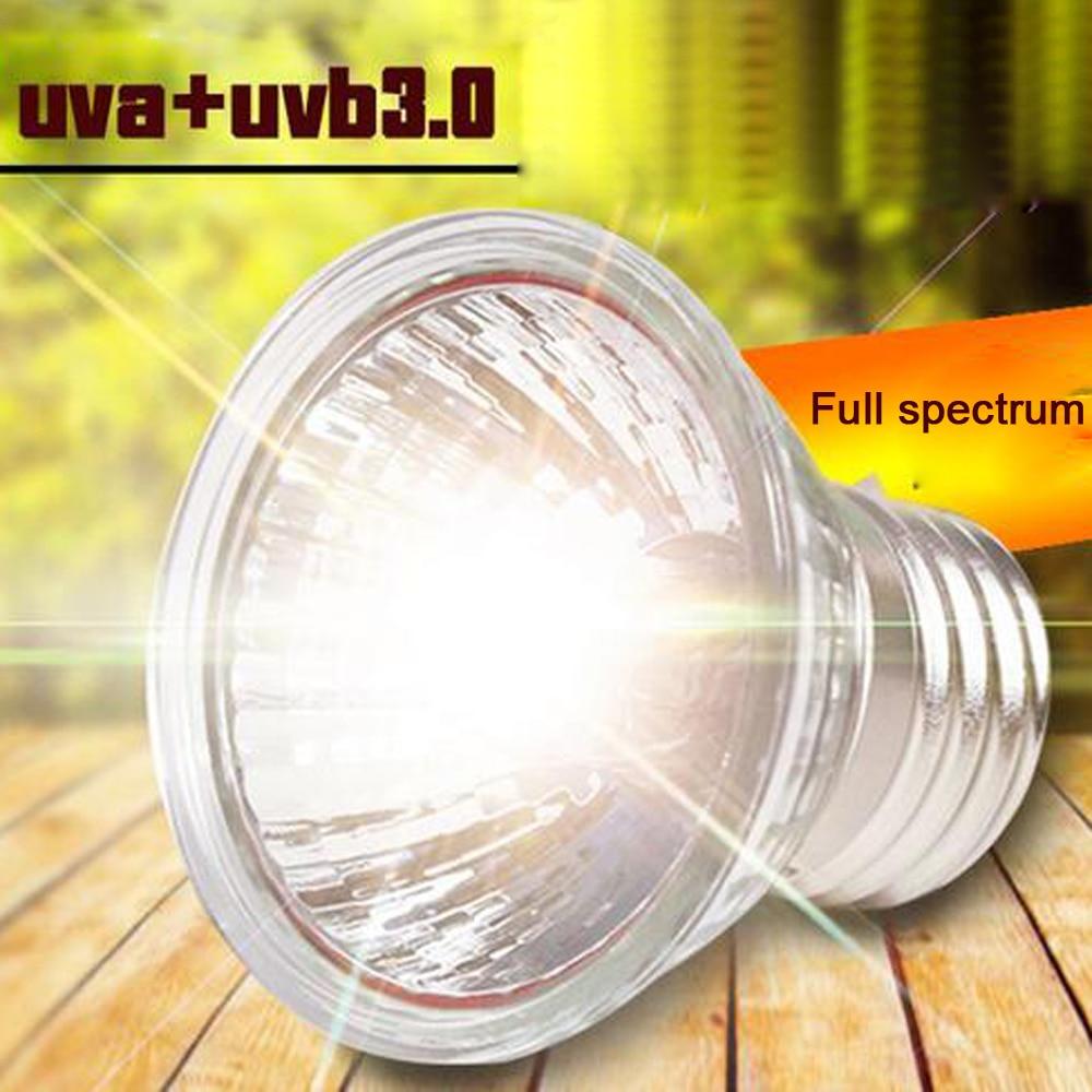 25/50 / 75W UVA + UVB 3.0 llambë zvarranikësh breshkë llambë duke ndezur llamba UV llambë ngrohëse për amfibët dhe hardhucat kontrollues të temperaturës