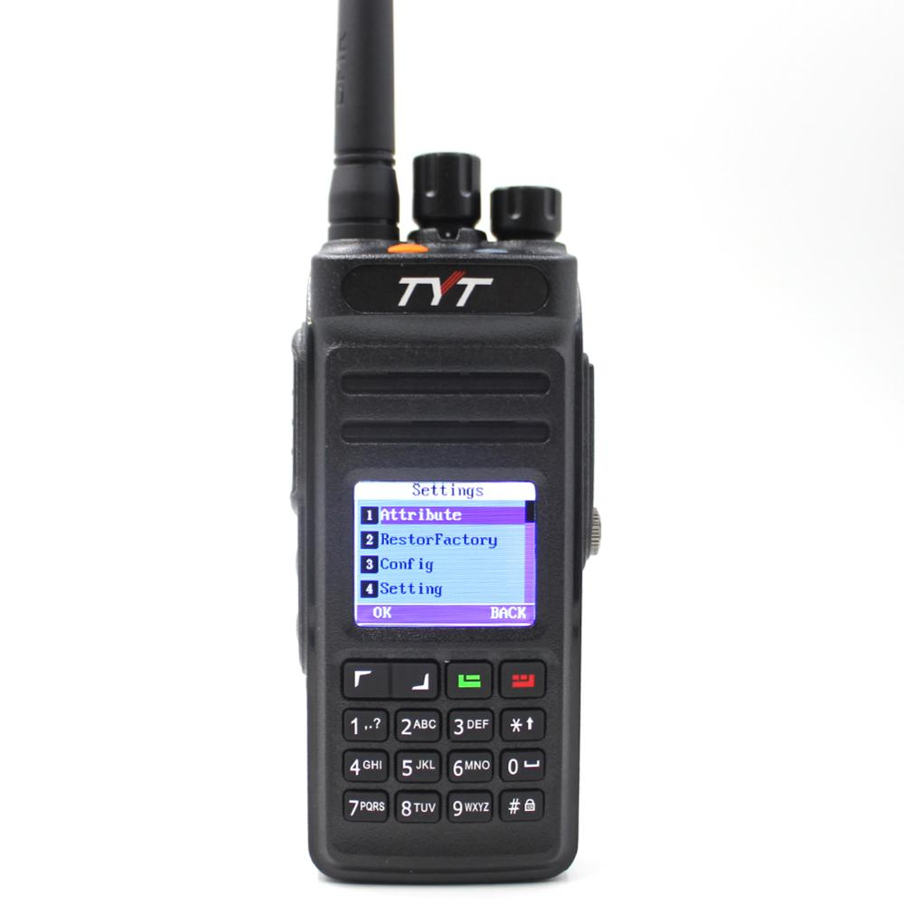 Sobre las md-398 digital walkie talkie 10W UHF 400-470mHz radio de dos vías jamón transceptor IP67 impermeable DMR