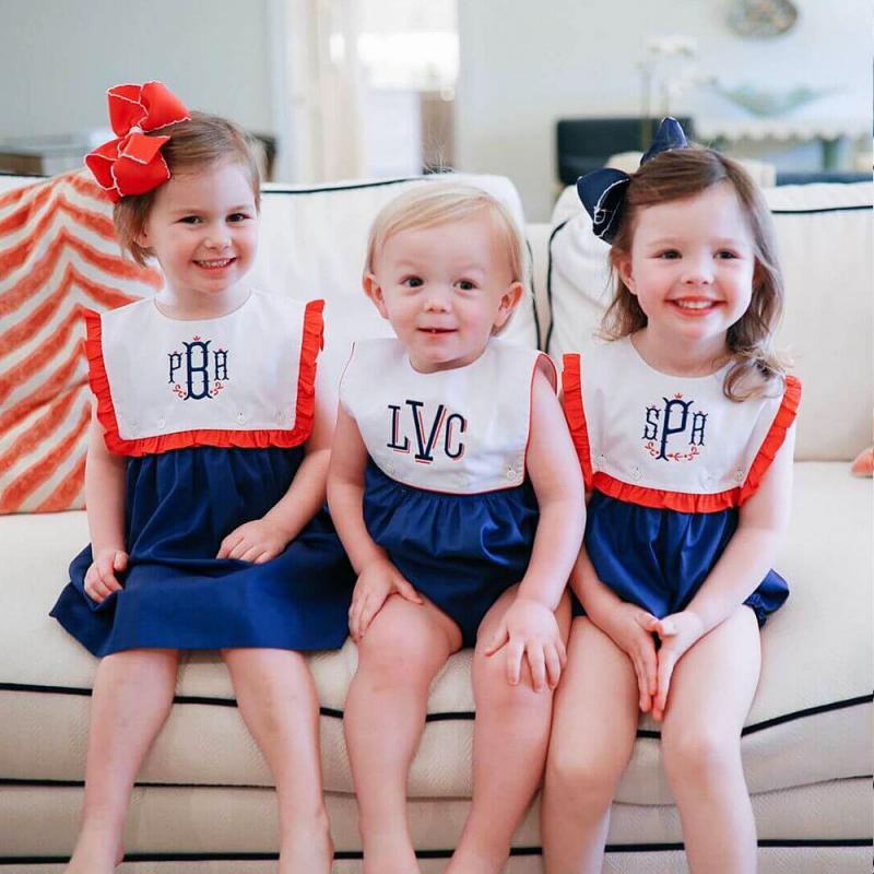ملابس إسبانية للأطفال ، رومبير مطرز يدويًا للأطفال ، ملابس مطابقة للأخ والأخت ، متجر إسبانيا
