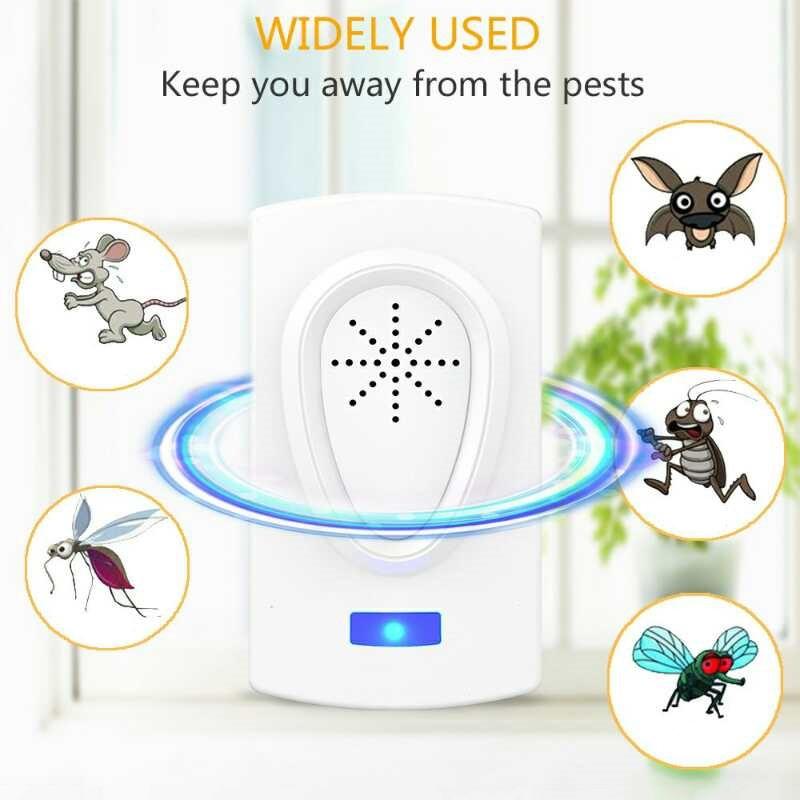 Dispositivo de repelente de plagas ultrasónico ratón cucaracha insectos ratas arañas antimosquitos Control de Plagas hogar rechazador de plagas