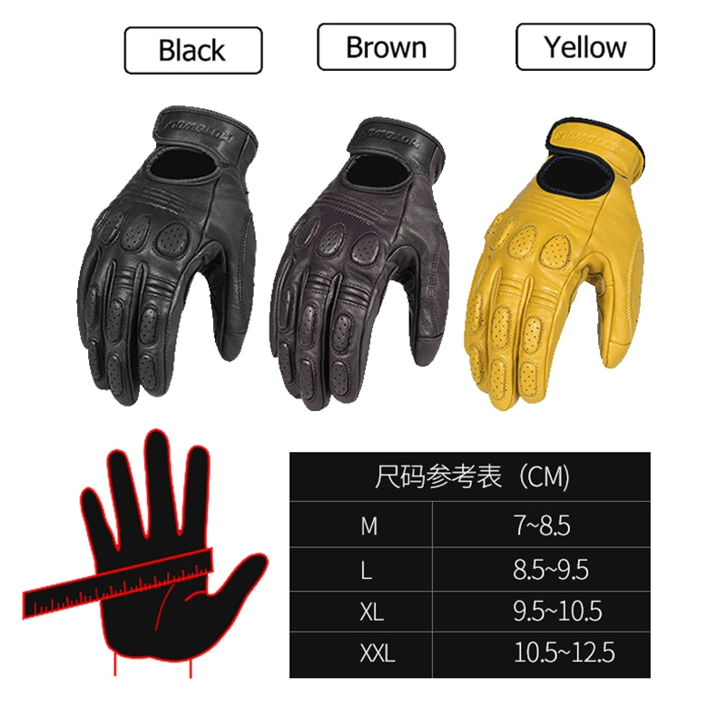 Sheepskin Motorcycle gloves waterproof breathable scooter chopper riding gloves Anti-fall leather moto gloves For BMW Harley enlarge