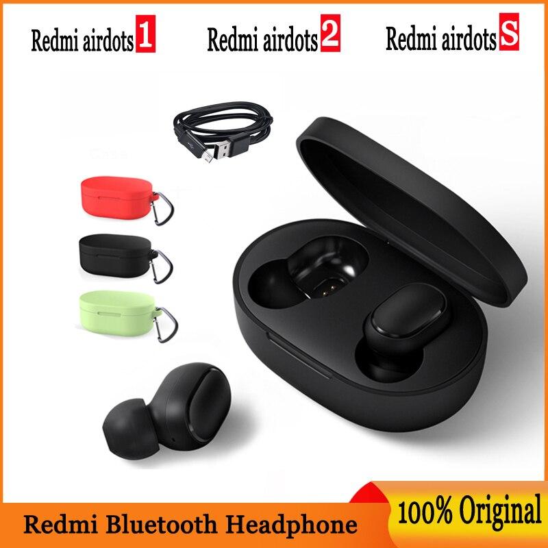 Mi xiaomi redmi airdots bluetooth 5.0 na orelha tws sem fio bluetooth fone de ouvido estéreo baixo microfone handsfree controle ai airdots s 2