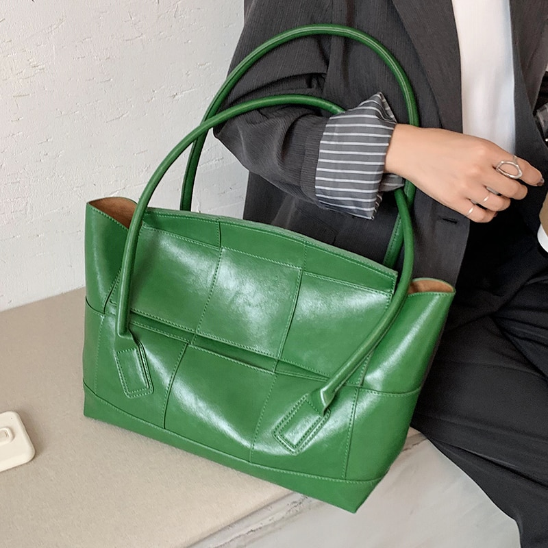 Large PU Leather Shoulder Bags 2021 Women's Bag Trend Elegant Handbags Female Travel Totes Lady Fashion Hand Bag Designer