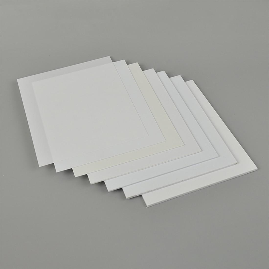 Tablero plano de plástico ABS de 10 Uds para fabricación de modelos de mesa de arena-blanco