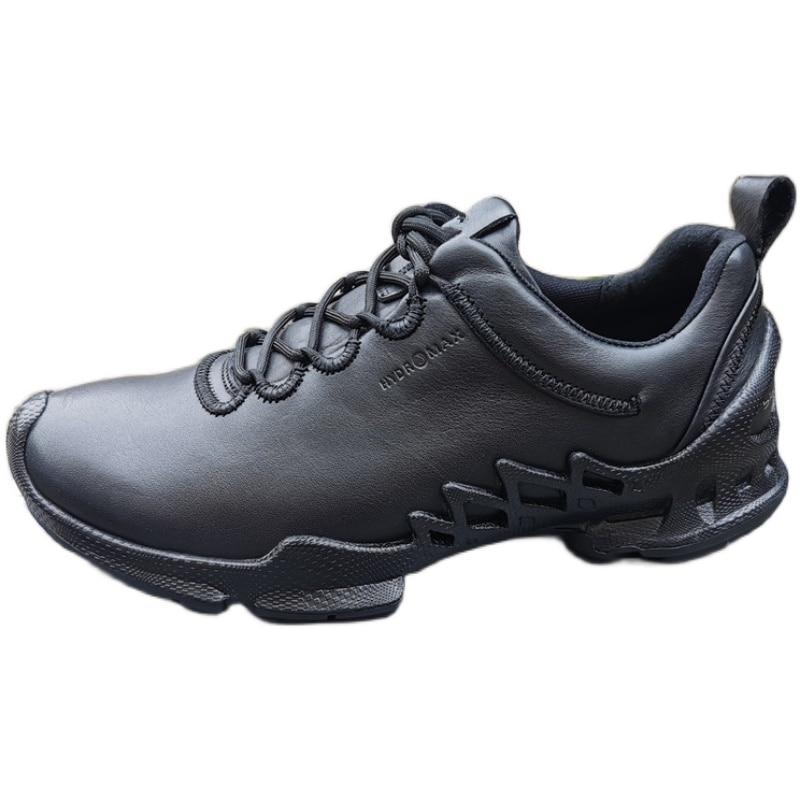 حذاء جولف أحذية رياضية رجالية جلد طبيعي امتصاص الصدمات مقاوم للماء تنفس سميكة سوليد الرياضة أحذية رياضية كاجوال