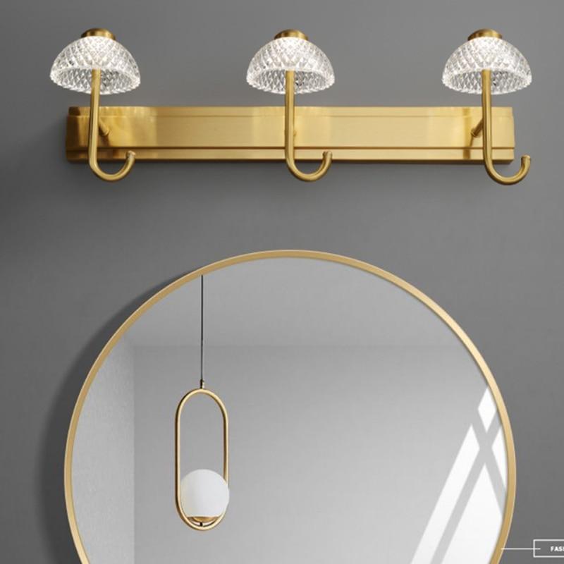 luz de luxo espelho frontal luz do armario espelho de cobre luz led especial maquiagem