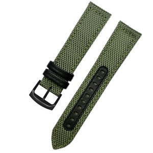Outdoor sports nylon watchband for S-EIKO SRPC31J1 SSC295J1 men's watch canvas strap 20mm 21mm 22mm black armygreen wristband