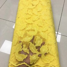 African Lace Fabric with sequins Embroidered High Quality Nigerian French Tulle Lace Fabrics For Wom