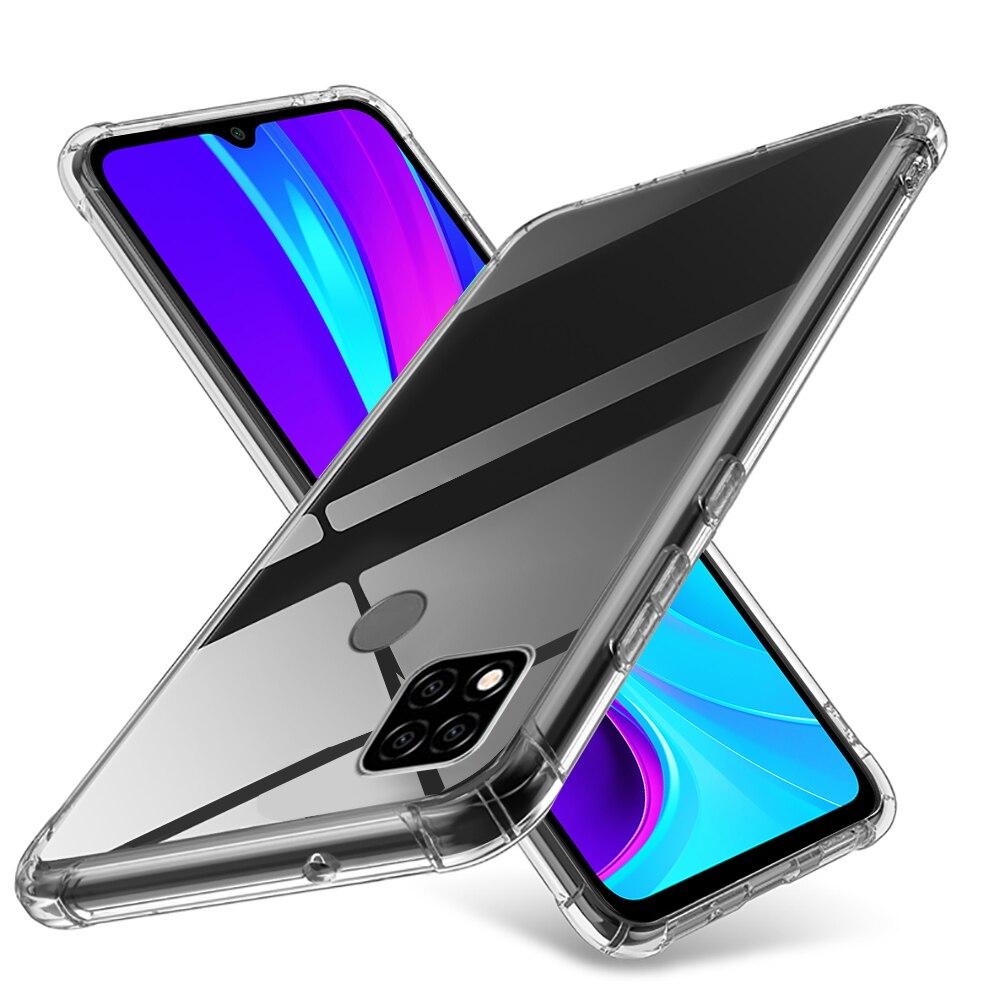 Caso macio de silicone transparente para xiaomi redmi 9c nfc caso redmi9c em xiomi redmy redme 9 c à prova de choque capa do telefone coque