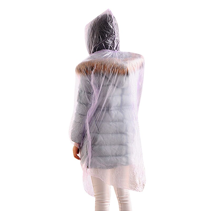 5pcs Disposable Raincoat Waterproof Hood Poncho Travel Camping Must Transparent Rain Coat for Men Women Adult