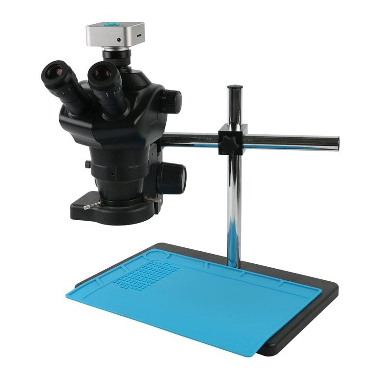 كاميرا فيديو 36ميجابكسل 4K 1080P HDMI USB كاميرا فيديو ST8050 8X-50X مجهر ستريو ثلاثي العينيات بتكبير بؤري مستمر بعدسة بارلو 0.5X CTV