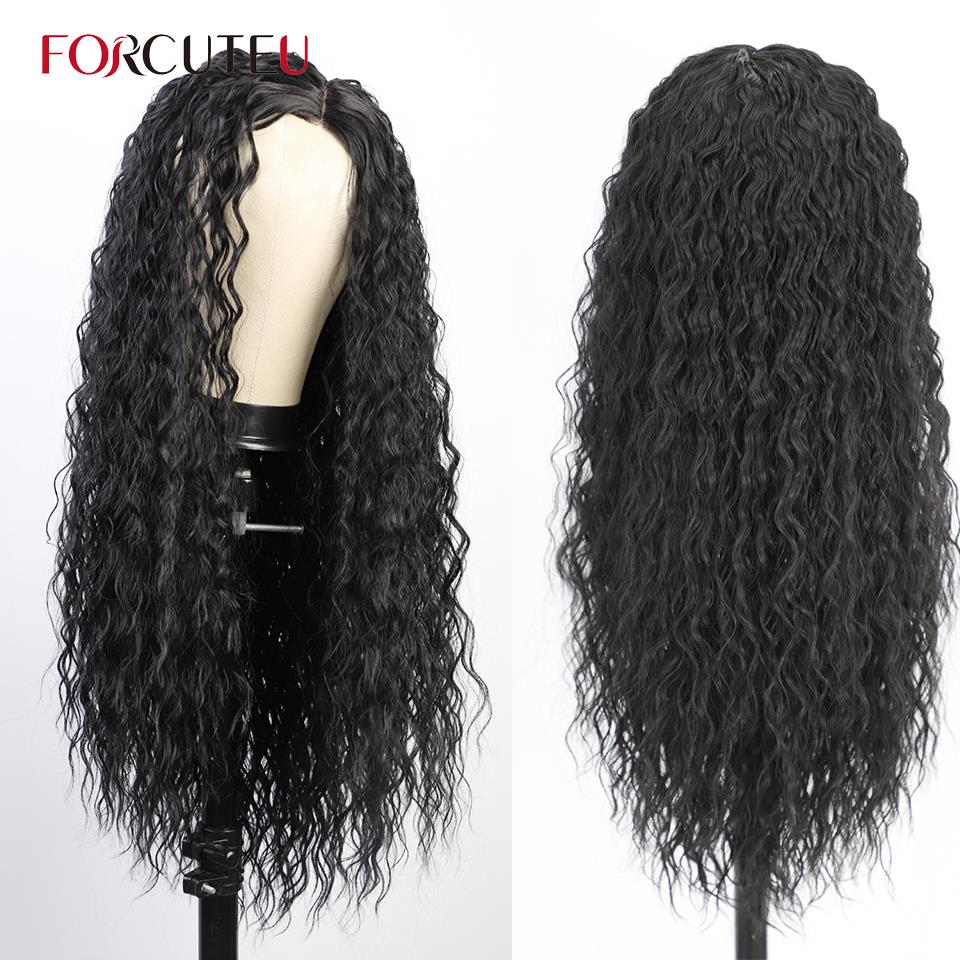 Synthetic Afro Kinky Curly Wig Long Women's Wigs Deep Curly Wave Natural Hair Wigs for Black Women Blonde Pink Red Wig Cosplay