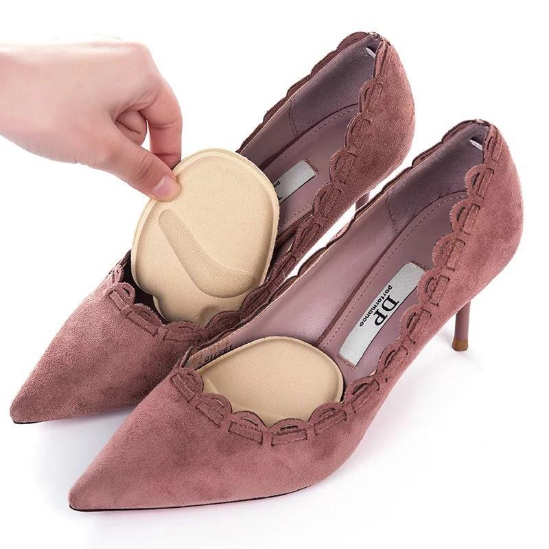 1pair Heel Pad Soft High Heels Insert Insole Foot Forefoot Half Yard Mat Arch Women Orthopedic Heel