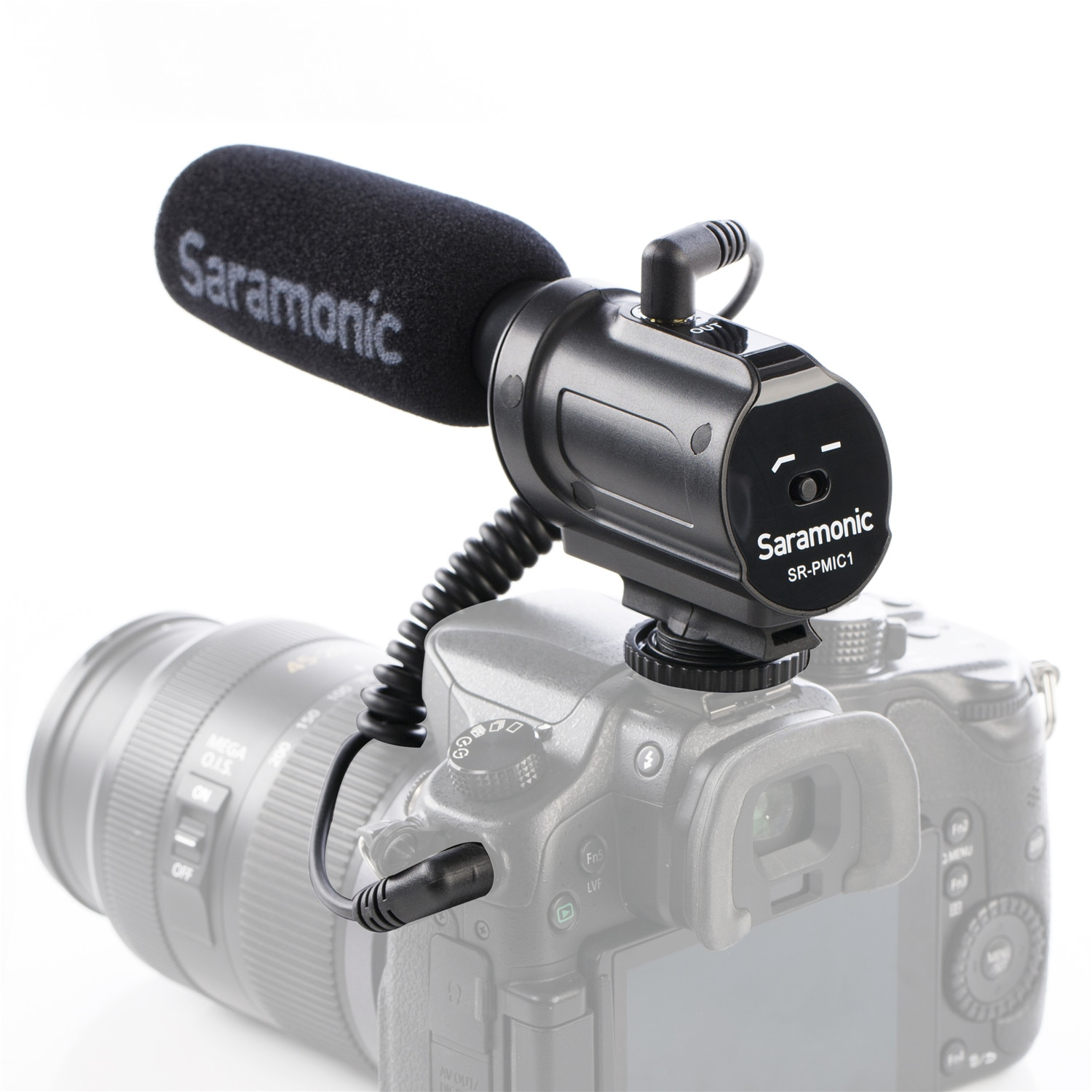 Saramonic SR-PMIC1 Super-cardioid unidirectional condenser microphone for use on DSLR cameras/camcorders enlarge
