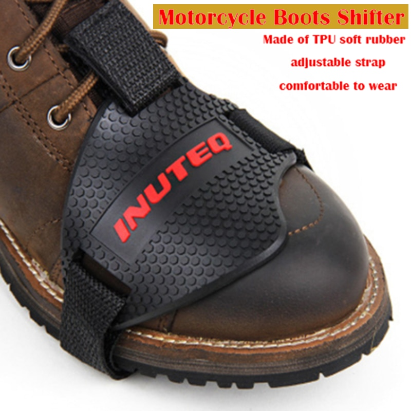 Black Motorcycle Shoes Protective Motorcycle Motorbike Gear Shifter Shoes Boots Protector Shift Sock Boot Cover Motor Guards