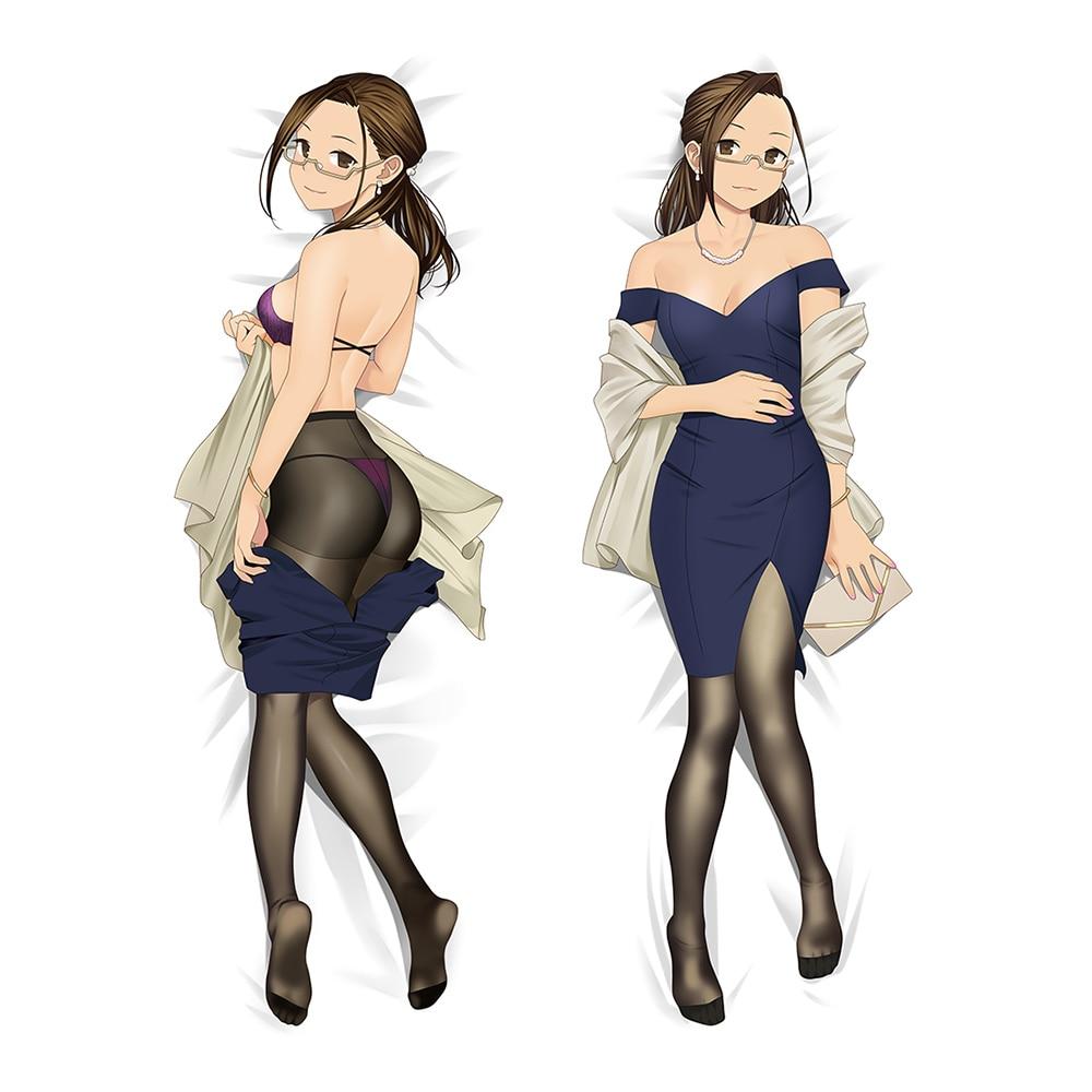 MGF MIRU medias Anime funda de almohada grande caso Okuzumi Yuiko Dakimakura funda Sexy funda de almohada