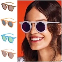 punk sunglasses jelly color sun glasses unisex round frame adumbral anti uv spectacles eyeglasses a