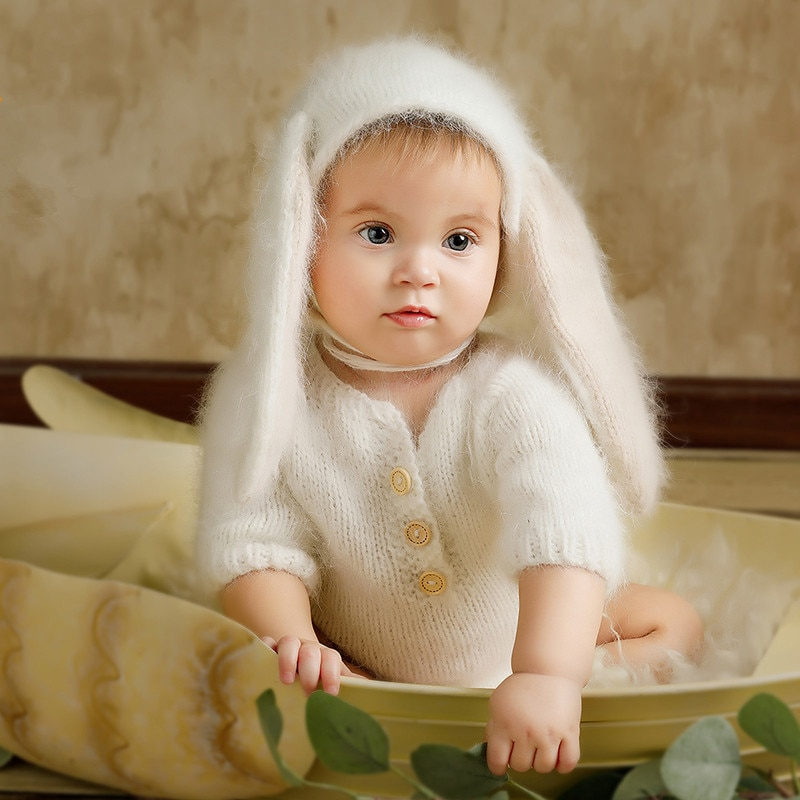 Baby Sweater Baby Jumper Baby Hoodie Baby Rompers Newborn Crochet Hat+Knit Soft Outfits Fotografia Accessories Studio Photo