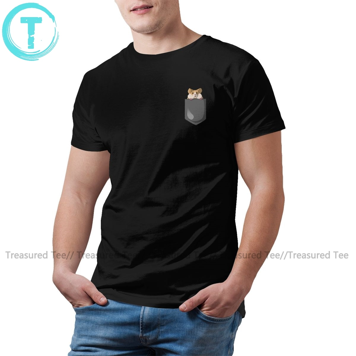 Camiseta hámster, camiseta de hámster, camiseta para hombre de gran tamaño, camiseta 100 de algodón de manga corta, Camiseta básica estampada