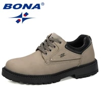 bona 2019 new design men classic business formal shoes round toe leather dress shoes men lace up oxford shoes man working shoes
