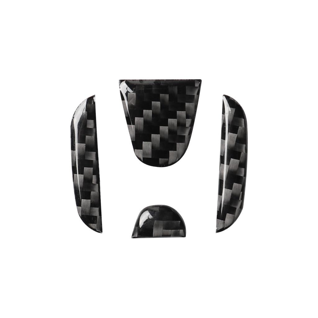 Автомобильные аксессуары из углеродного волокна, защитная декоративная наклейка на руль для интерьера Honda Civic 2016-2019