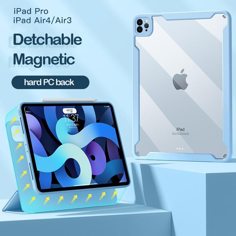 المغناطيسي حافظة لجهاز iPad الهواء 4 2020 برو 11 شفافة غطاء انفصال عودة حافظة لجهاز iPad الموالية 12.9 2018 2020 القلم فتحة حالة كابا