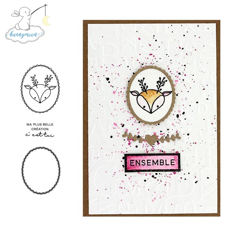 CH Cute Deer Cutting Metal Decorative Scrapbooking Steel Craft Die Cut and Stamps Embossing Card Stencil