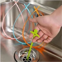 bathroom hair sewer cleaning brush kitchen sink tub toilet dredge pipe snake brush tools creative bathroom kitchen accessories