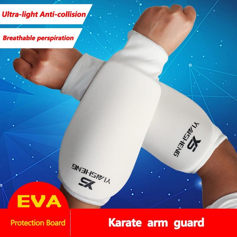 Karate Armband Armguard Elleboog Taekwondo Sanda Boksen Vechter Armband Leggings Verdikte Ademende Arm Protector