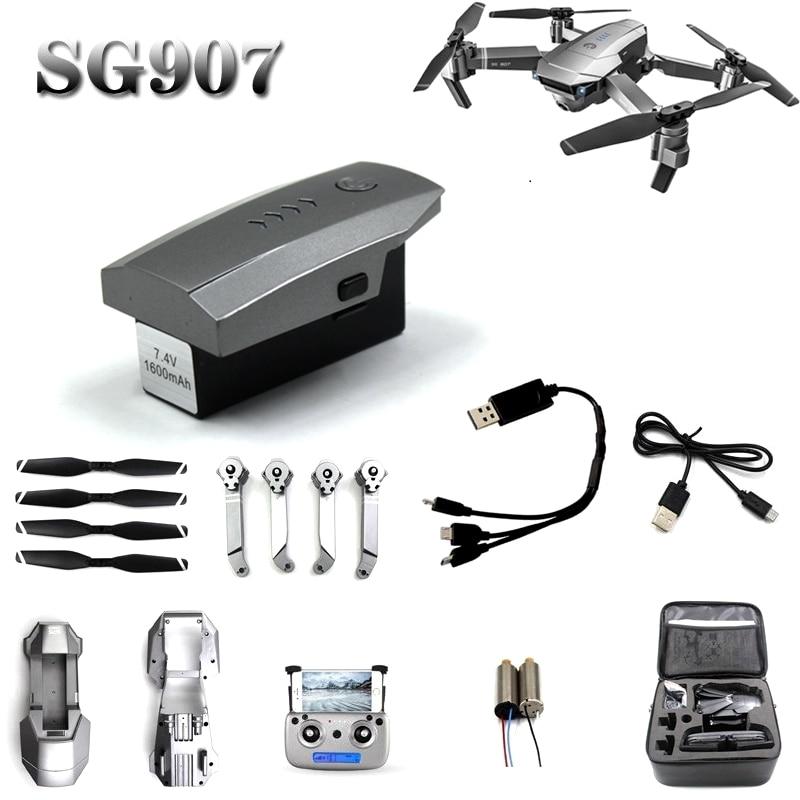 SG-907 SG907 batería piezas de recambio de drones RC blade control remoto línea de carga brazo motor shell receptor anillo de protección