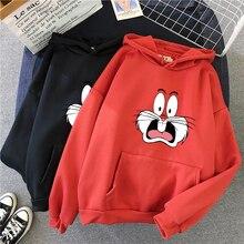 2021 Harajuku Sweatshirt Cute Cartoon Graphic Print Ladies Hoodie Kpop Fashion Street Hoodies Women