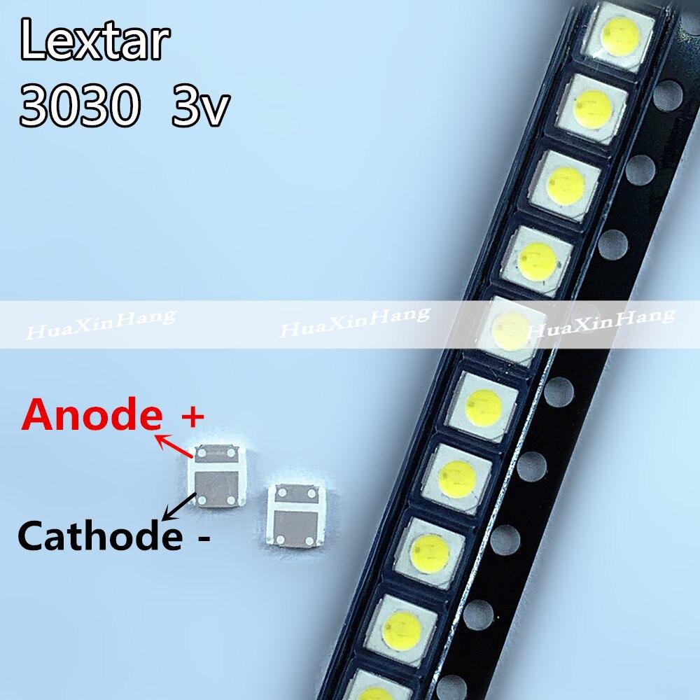 1000 قطعة/الوحدة الأصلي ل Lextar LED الخلفية التلفزيون عالية الطاقة LED مزدوجة رقائق 1W 3V 3030 بارد الأبيض 3030V7 تطبيق TV