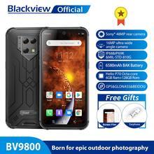 IP68/IP69K Blackview BV9800 модульный прочный мобильный телефон 6,3 дюймов Дисплей 6580 мА/ч, Helio P70 Octa Core 6 ГБ 128 48MP Cam Android 9