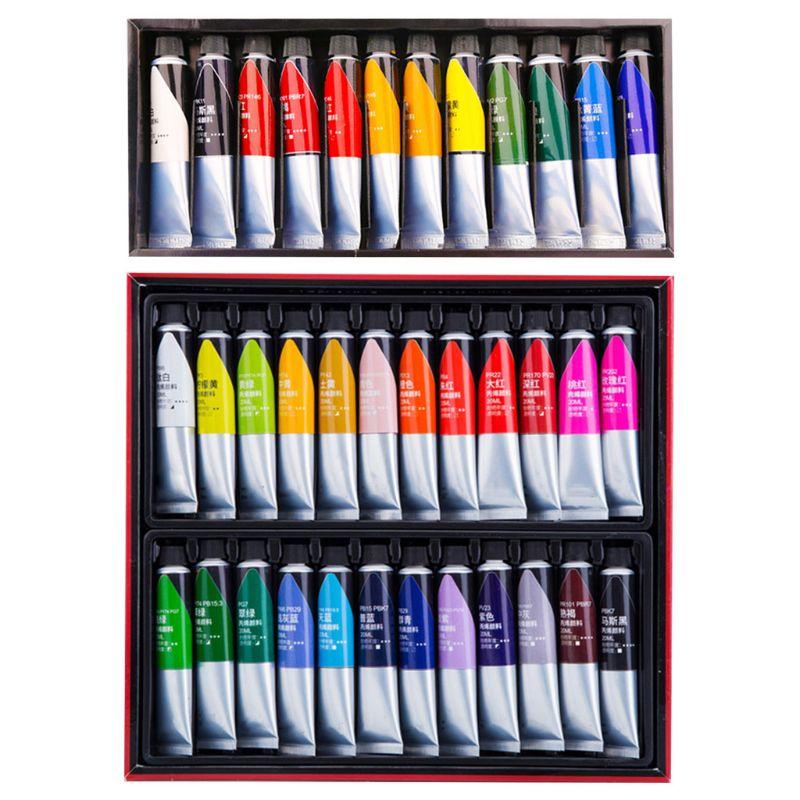 12/24 colores pintura acrílica profesional 20ml pintura de dibujo pigmento pintura a mano F3MA