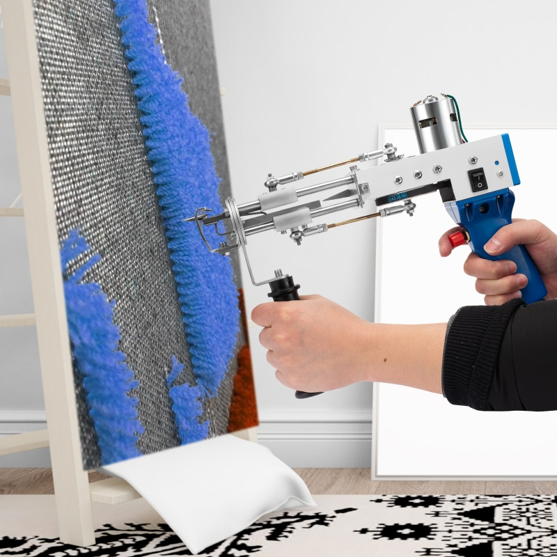 2021 Electric Manual Cut Pile Carpet Weaving Flocking Power Tools 100-240V Adjustable Rug Tufting Gun Machine (FOR Loop) enlarge
