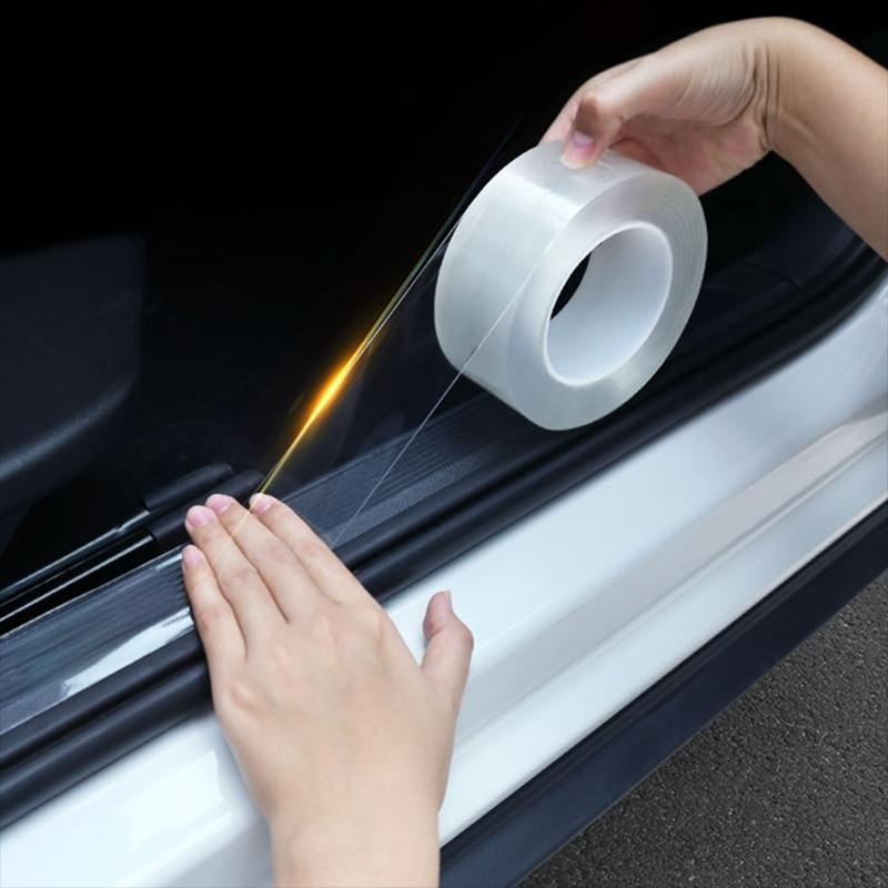 Car Door Sill Protector Nano Sticker Tape Bumper Strip For Honda Accord Civic CRV Fit HR-V Vezel Odyssey City Jazz Jade Stream
