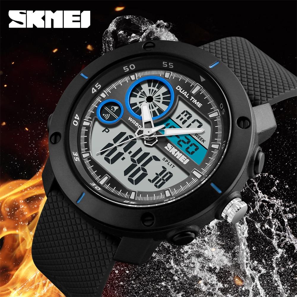 SKMEI New Outdoor Sports Watches Luxury Brand Digital Quartz Watch Men Waterproof Military Army Wrist Relogio Masculino