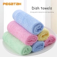household kitchen cleaning cloth daily dish towel non stick oil dishes cloth absorbent scouring pad wood fiber kitchen rags