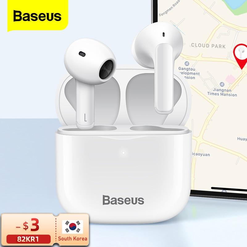 Baseus E3 TWS سماعة لاسلكية بلوتوث 5.0 سماعة أذن لاسلكية حقيقية سماعات أذن آيفون 12 برو ماكس يدوي براعم الأذن