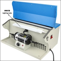 Desktop Vacuuming Polisher 110v/220v With Tube Stepless Speed Regulation Polisher Gold Silver Jewelry Polishing Tools