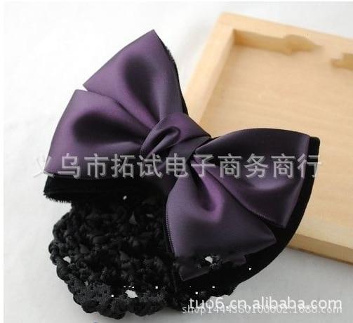 Hotel handmade hair net bank stewardess employee head flower plate hair net elegant elegant female head flower alloy hair clip