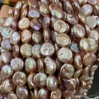 natural freshwater pearl beads 11 12mm button shape punch loose beads for jewelry making diy women necklace bracelet
