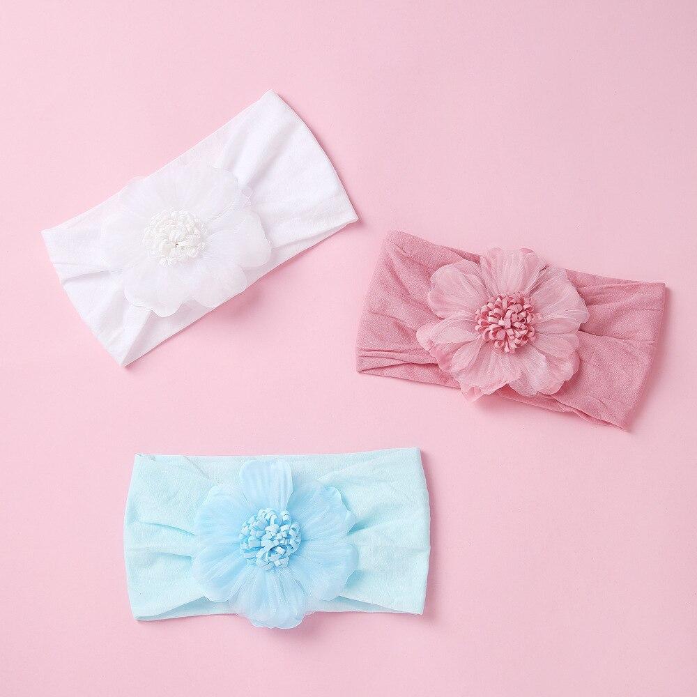 Encaje de cinta para cabeza de flores para sombreros niñas de Color...